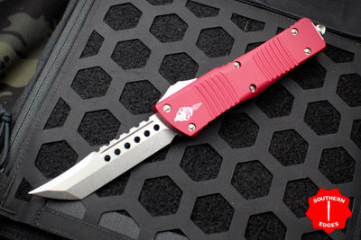 Microtech Combat Troodon Hellhound Red (OTF) Out the Front Knife with Stonewash Blade 219-10 RDS