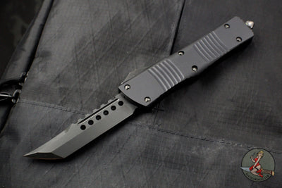 Microtech Hellhound Combat Troodon Black (OTF) Black DLC Blade and Hardware 219-1 DLCTS No logo