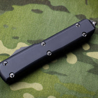 Microtech Ultratech Black Tactical Spartan Double Edge OTF Knife Black Solid DLC Blade 223-1 DLCT