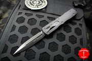 Microtech Dirac Delta Black Double Edge Tactical OTF Knife Solid DLC Black Blade 227-1 DLCTS