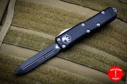 Microtech Black UTX-85 Spartan Edge OTF Knife Black Blade 230-1