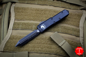 Microtech UTX-85 Black Tactical Spartan Edge OTF Knife Black Blade 230-1 T