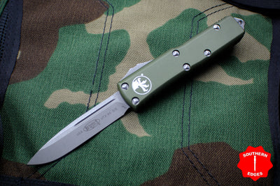 Microtech UTX-85 OD Green Single Edge OTF Knife Apocalyptic Blade 231-10 APOD