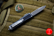 Microtech UTX-85 Distressed Black Single Edge OTF Knife Apocalyptic Blade 231-10 DBK