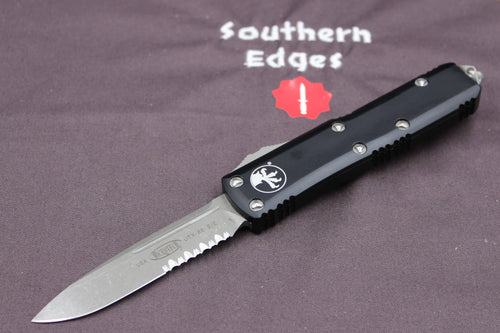 Microtech UTX-85 Black S/E Knife Apocalyptic Part Serrated Blade 231-11 AP