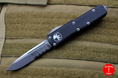 Microtech UTX-85 Black Single Edge OTF Knife Part Serrated Stonewash Blade 231-11