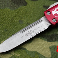 Microtech UTX-85 Red S/E Knife Part Serrated Stonewash Blade 231-11 RD
