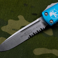 Microtech UTX-85 Turquoise Single Edge Knife Part Serrated Stonewash Blade 231-11 TQ