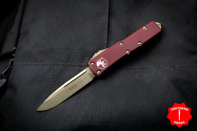 Microtech UTX-85 Merlot Red Single Edge OTF Knife Bronze Blade 231-13 MR