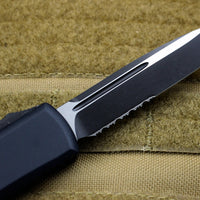 Microtech UTX-85 Black Single Edge OTF Knife Black Tactical Part Serrated Blade 231-2 T