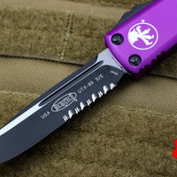 Microtech UTX-85 Violet Single Edge OTF Knife Black Part Serrated Blade 231-2 VI