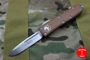 Microtech UTX-85 Tan S/E Knife Satin Blade 231-4 TA