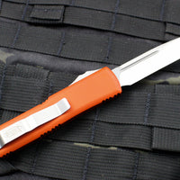 Microtech UTX-85 Orange Single Edge OTF Knife Satin Blade 231-4 OR