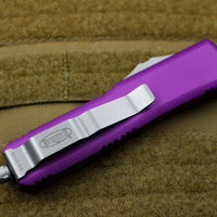 Microtech UTX-85 Violet Single Edge OTF Knife Satin Blade 231-4 VI