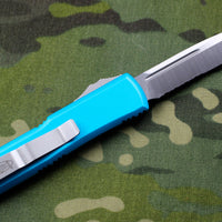 Microtech UTX-85 Turquoise Single Edge Knife Part Serrated Satin Blade 231-5 TQ