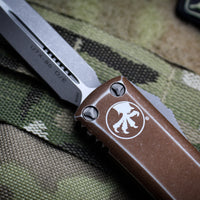 Microtech UTX-85 Distressed Tan Double Edge OTF Knife Apocalyptic Blade 232-10 DTA