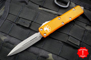 Microtech UTX-85 Orange Double Edge Knife Apocalyptic Blade 232-10 APOR