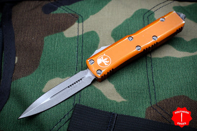 Microtech UTX-85 Distressed Orange Double Edge OTF Knife Apocalyptic Blade 232-10 DOR