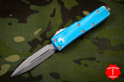 Microtech UTX-85 Distressed Turquoise Double Edge OTF Knife Apocalyptic Blade 232-10 DTQ