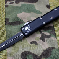 Microtech UTX-85 Black Double Edge OTF Knife Black Blade 232-1