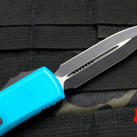 Microtech UTX-85 Turquoise Double Edge OTF Knife Black Blade 232-1 TQ