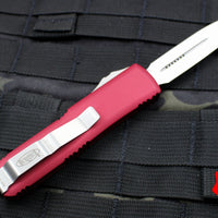 Microtech UTX-85 Red Double Edge OTF Knife Satin Blade 232-4 RD