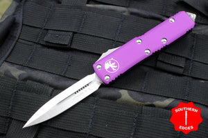 Microtech UTX-85 Violet Double Edge OTF Knife Satin Blade 232-4 VI