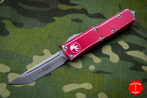 Microtech UTX-85 Distressed Red Tanto Edge OTF Knife Apocalyptic Blade 233-10 DRD