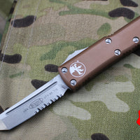Microtech UTX-85 Tan Tanto Edge OTF Knife Stonewash part serrated blade 233-11 TA