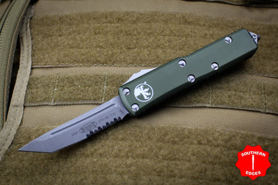 Microtech UTX-85 OD Green Tanto Edge OTF Auto Knife Apocalyptic part serrated blade 233-11 APOD