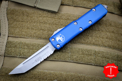 Microtech UTX-85 Blue Tanto Edge OTF Knife Stonewash part serrated blade 233-11 BL