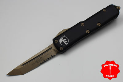Microtech UTX-85 Black Tanto T/E Knife Bronze Part Serrated Blade 233-14