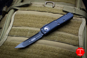 Microtech UTX-85 Black Tactical Tanto Edge OTF Knife FULL DLC Black Blade 233-1 DLCT