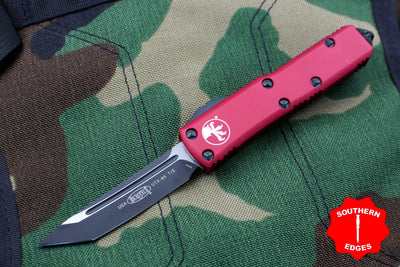 Microtech Red UTX-85 Tanto Edge OTF Knife Black Blade 233-1 RD