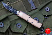 Microtech UTX-85 Tan Tanto Edge OTF Knife Black Blade 233-1 TA