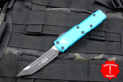 Microtech Turquoise UTX-85 Tanto Edge OTF Knife Black Blade 233-1 TQ