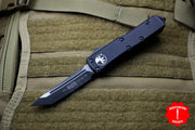 Microtech UTX-85 Black Tanto Edge OTF Knife Black Part Serrated Blade 233-2 T