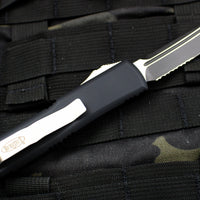 Microtech Black UTX-85 Tanto T/E Knife Black Part Serrated Blade 233-2