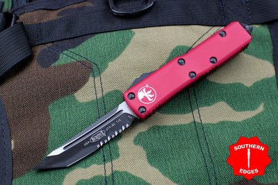 Microtech Red UTX-85 Tanto Edge TE Knife Black Part Serrated Blade 233-2 RD