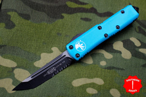 Microtech Turquoise UTX-85 Tanto Edge TE Knife Black Part Serrated Blade 233-2 TQ