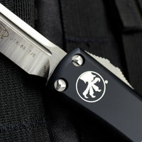 Microtech Black UTX-85 Tanto Edge OTF Knife Satin Blade 233-4