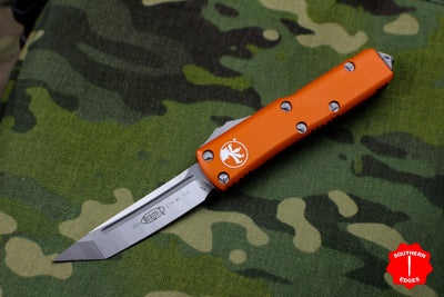 Microtech Orange UTX-85 Tanto Edge OTF Knife Satin Blade 233-4 OR