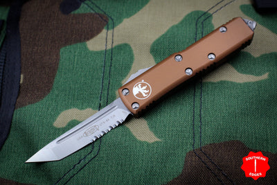 Microtech UTX-85 Tan Tanto Edge OTF Knife Part Serrated Satin Blade 233-5 TA