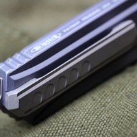 Microtech Cypher MK7 GRAY SE Stonewash Finish with Standard Hardware 241M-10GY