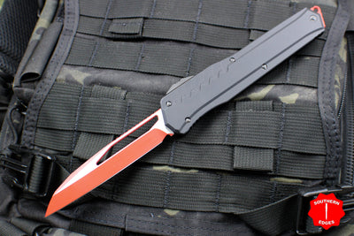 Microtech Cypher MK7 Black Single Edge RED Blade with Black Hardware 241M-1 RDBK