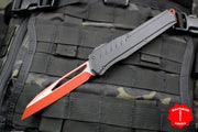 Microtech Cypher MK7 Serial Number 02!!! Black Single Edge RED Blade with Black Hardware 241M-1 RDBK