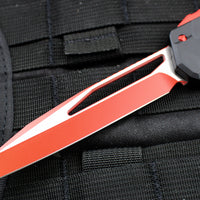 Microtech Cypher MK7 Black Single Edge RED Blade with Red Hardware 241M-1 RDB