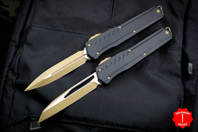 Microtech Cypher MK7 Serial Number 02 SET Black SE and DE Tan Blade and Hardware 241M-1 TNB 242M-1 TNB
