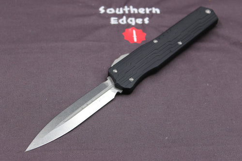 Microtech Cypher DE Stonewash Finish with Standard Hardware 242-10