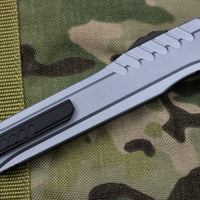 Microtech Cypher MK7 GRAY DE Full Serrated Black Blade 242M-3 GY